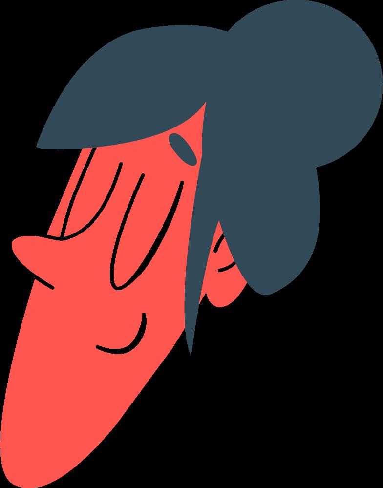 ballerina head Clipart illustration in PNG, SVG
