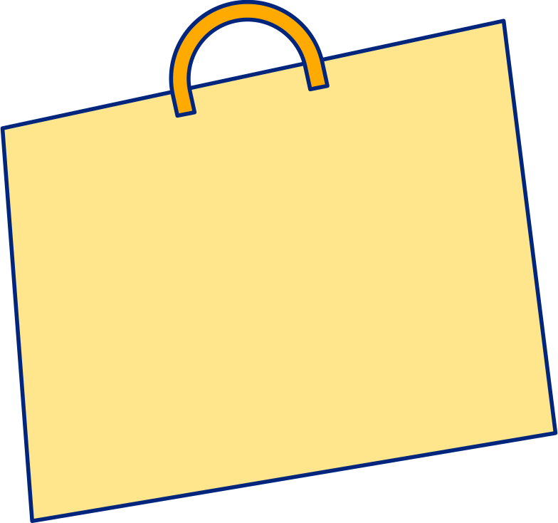 shopping bag yellow Clipart illustration in PNG, SVG