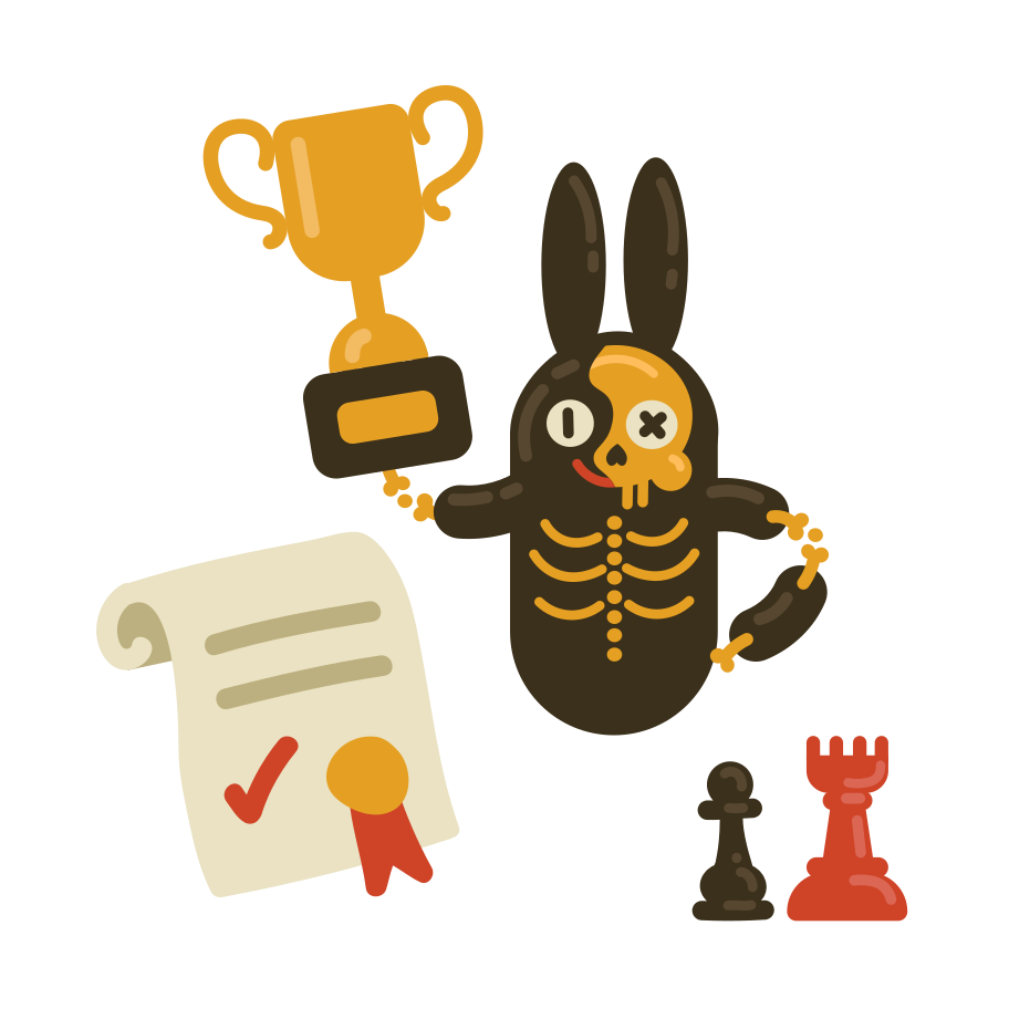 Winner of the chess competitions Clipart illustration in PNG, SVG
