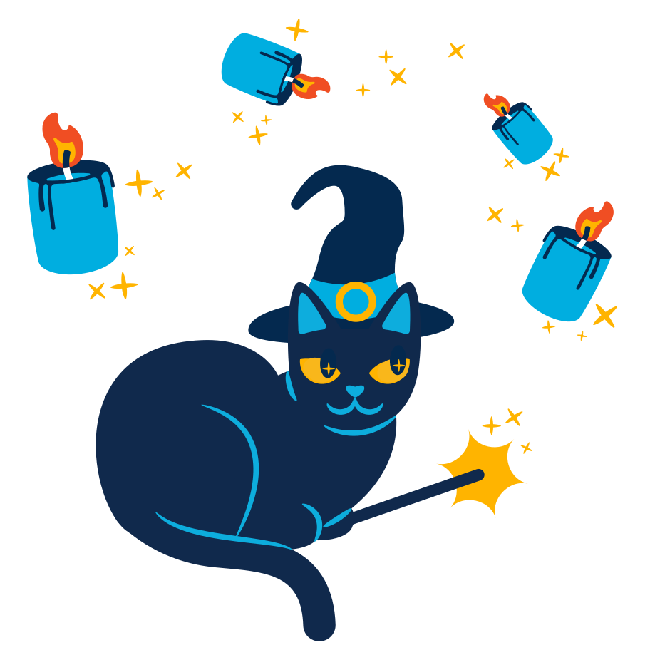 Witch's cat Clipart illustration in PNG, SVG