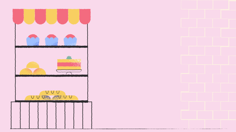 bakery background Clipart illustration in PNG, SVG
