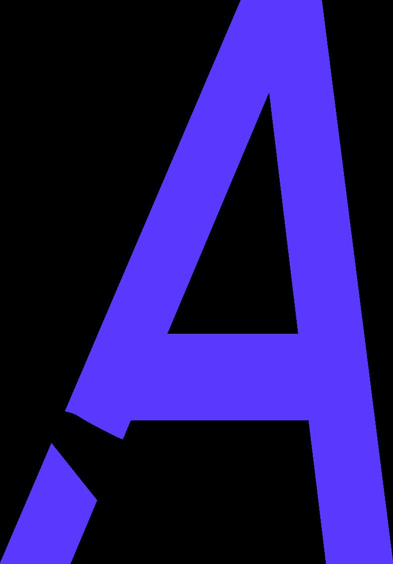 letter a crop Clipart illustration in PNG, SVG