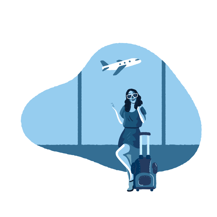 Happy to flight  Clipart illustration in PNG, SVG