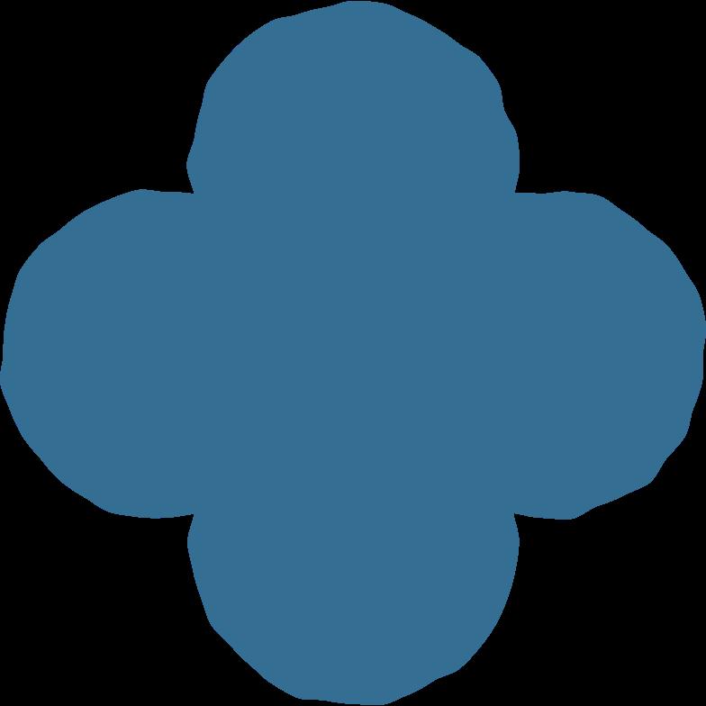 quatrefoil blue Clipart illustration in PNG, SVG