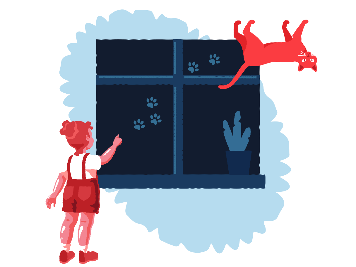 Spidercat Clipart illustration in PNG, SVG