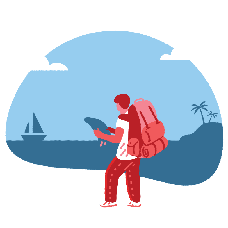 style Tourist with a backpack Vector images in PNG and SVG | Icons8 Illustrations