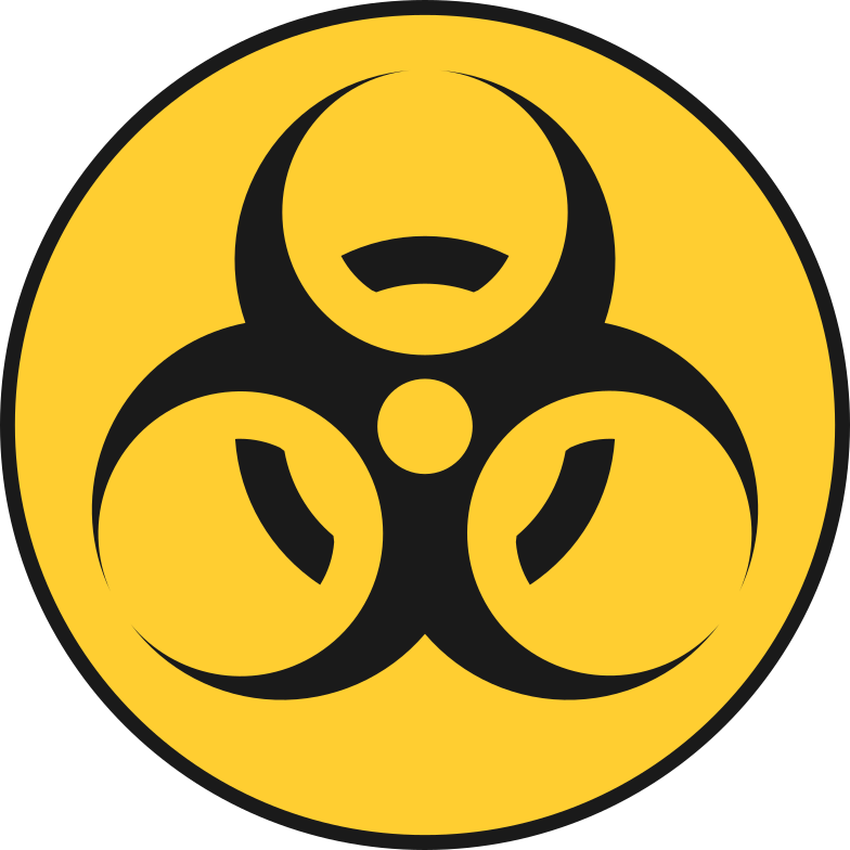 biohazard sign Clipart illustration in PNG, SVG