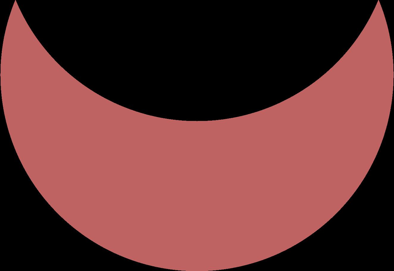 crescent burgundy Clipart illustration in PNG, SVG