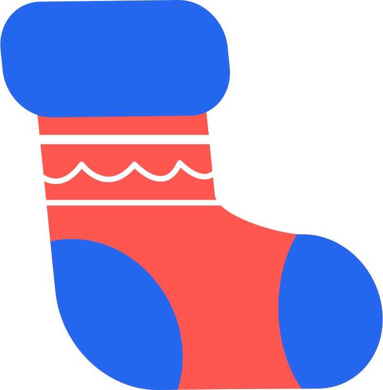 sock for gifts Clipart illustration in PNG, SVG