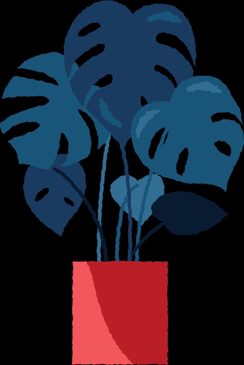 monstera in pot Clipart illustration in PNG, SVG