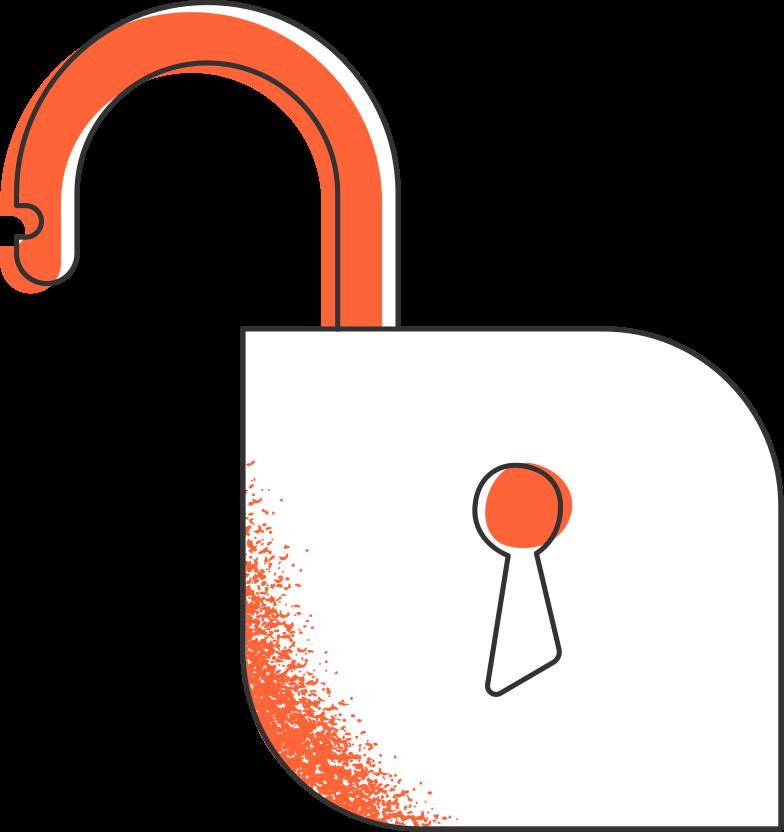 schloss entriegelt Clipart-Grafik als PNG, SVG