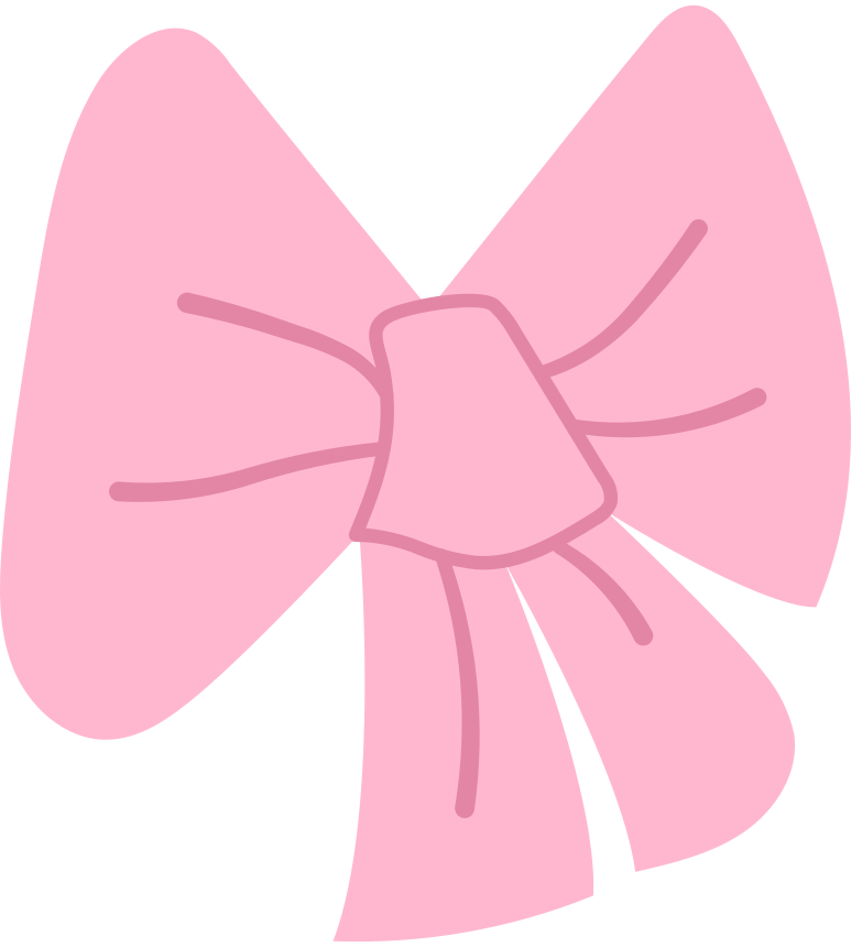 pink bow Clipart illustration in PNG, SVG