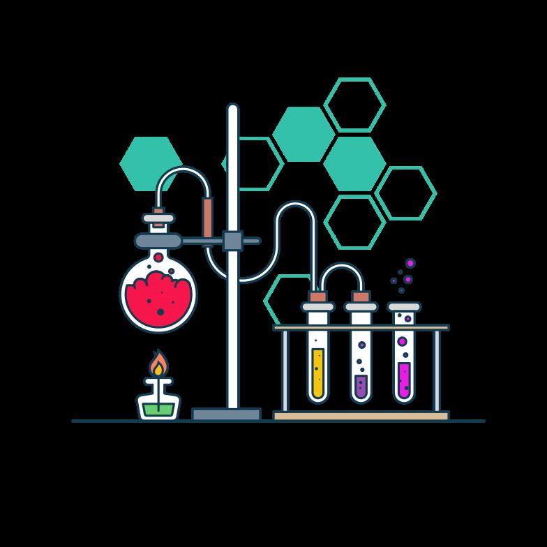 Chemistry lab Clipart illustration in PNG, SVG