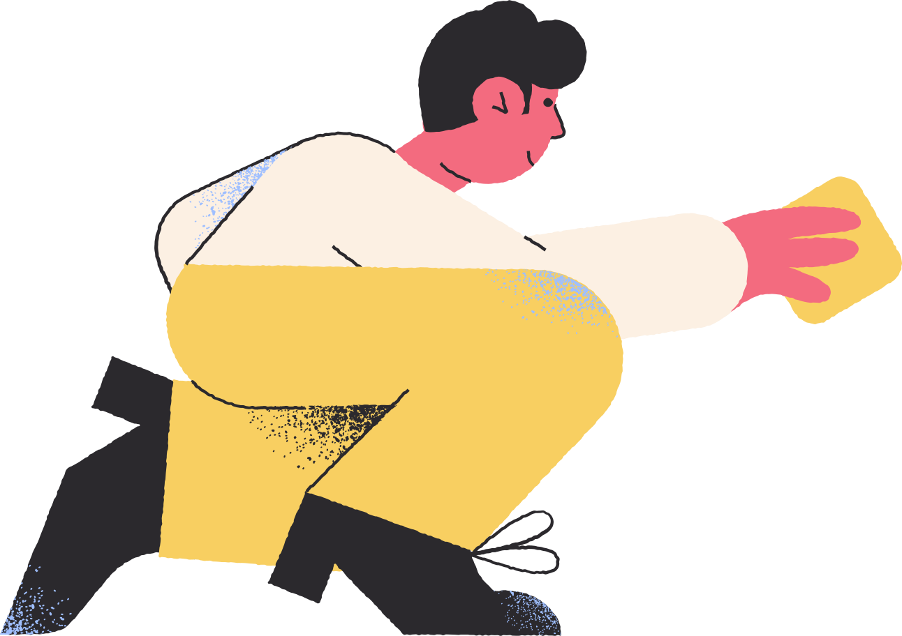 man on knee Clipart illustration in PNG, SVG