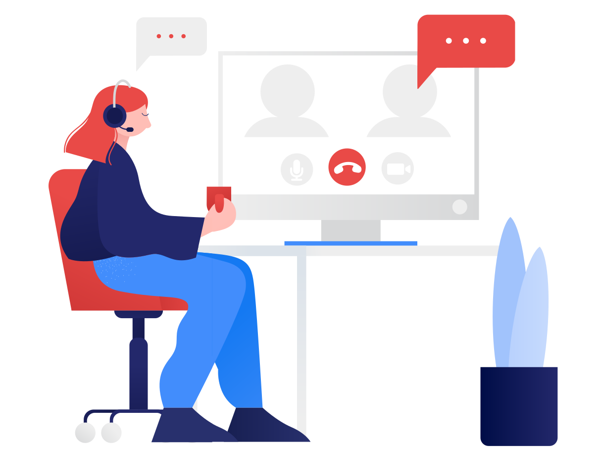 Online meeting Clipart illustration in PNG, SVG