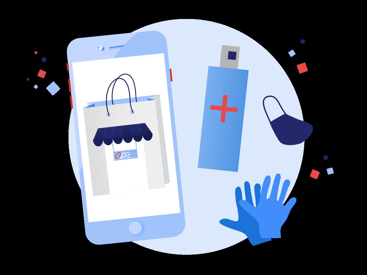 Online pharmacy Clipart illustration in PNG, SVG
