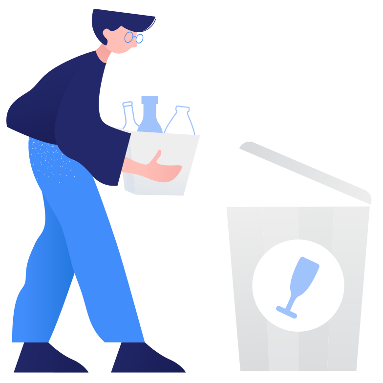 style Waste sorting- glass Vector images in PNG and SVG | Icons8 Illustrations