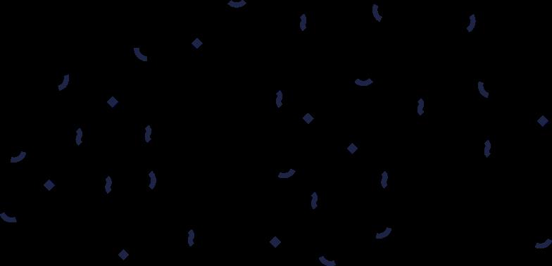 success  confetti 1 line Clipart illustration in PNG, SVG
