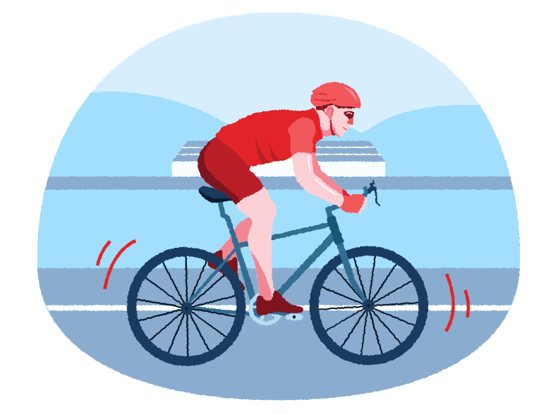Bicyclist Clipart illustration in PNG, SVG