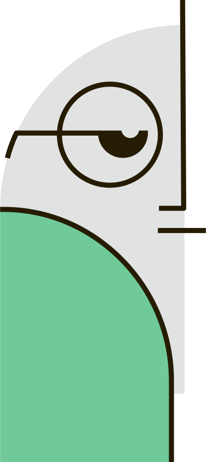person in glasses Clipart illustration in PNG, SVG