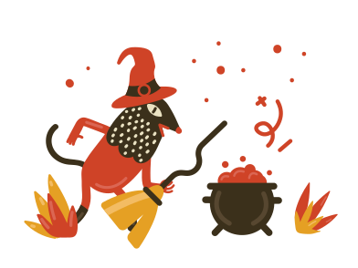 style Witch with broomstick images in PNG and SVG | Icons8 Illustrations