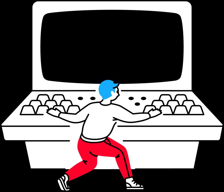 Der mann am computer Clipart-Grafik als PNG, SVG