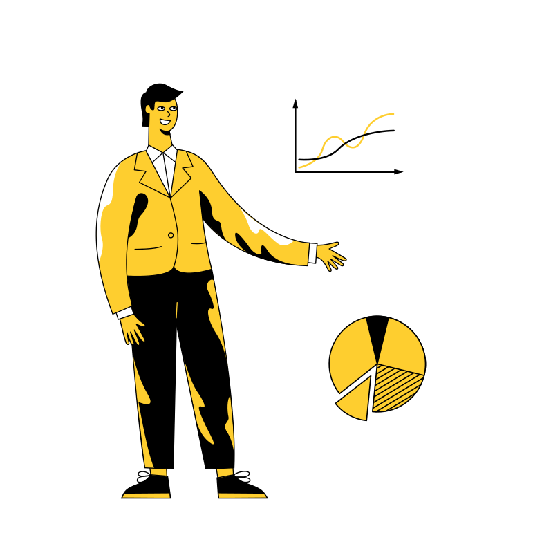 Business statistic Clipart illustration in PNG, SVG