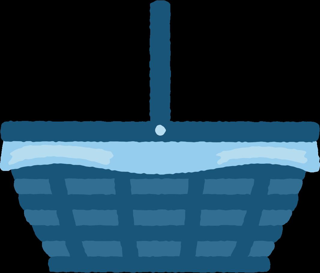 picnic basket Clipart illustration in PNG, SVG