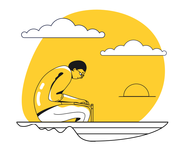 Rowing Clipart illustration in PNG, SVG