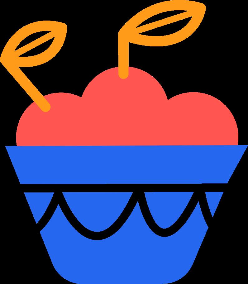 basket with apples Clipart illustration in PNG, SVG