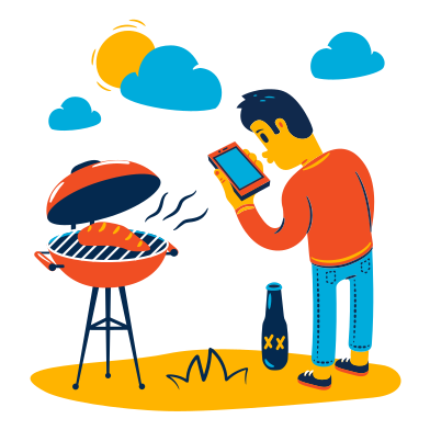 style Barbecue images in PNG and SVG | Icons8 Illustrations