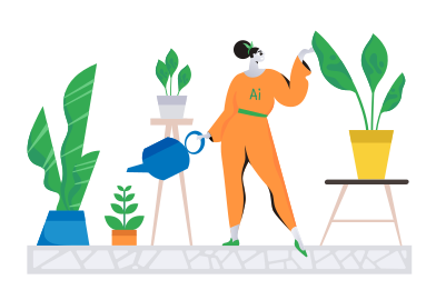 style AI gardener images in PNG and SVG | Icons8 Illustrations