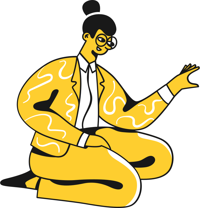 woman in a suit sitting Clipart illustration in PNG, SVG