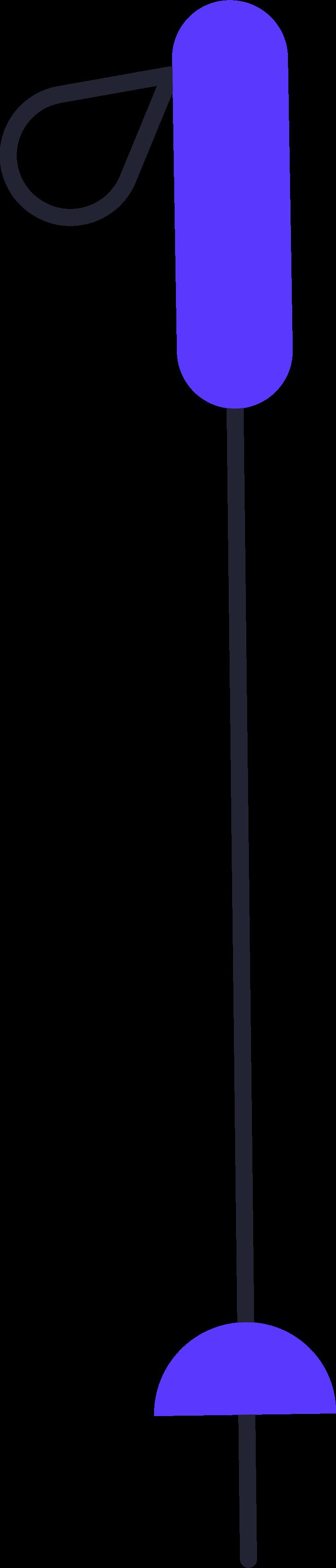 ski pole Clipart illustration in PNG, SVG