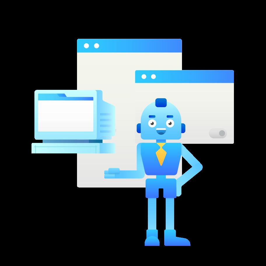 Online service  Clipart illustration in PNG, SVG