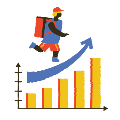 style Profit growth in the delivery segment images in PNG and SVG | Icons8 Illustrations