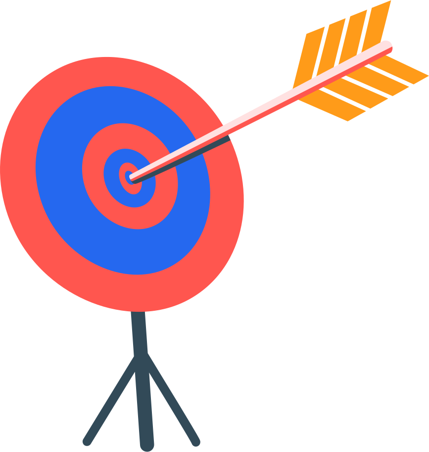 target with arrow Clipart illustration in PNG, SVG