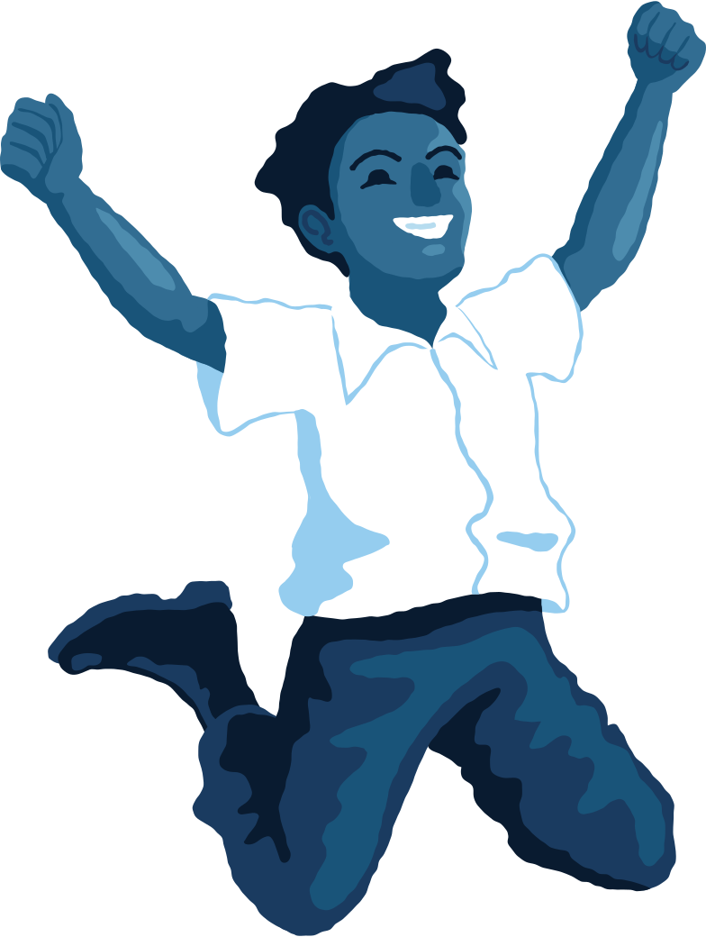 boy jumping front Clipart illustration in PNG, SVG