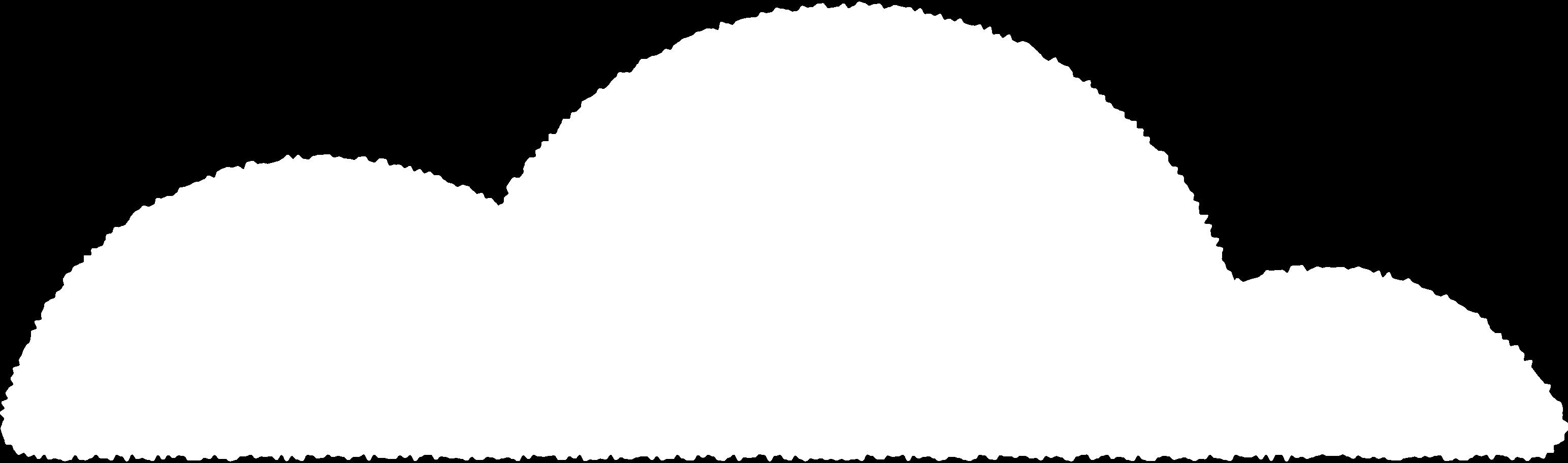 Ilustración de clipart de nube blanca en PNG, SVG