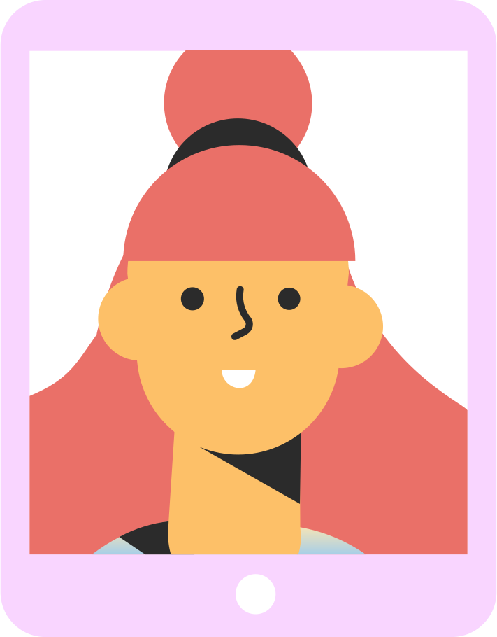 style tablet girl Vector images in PNG and SVG   Icons8 Illustrations