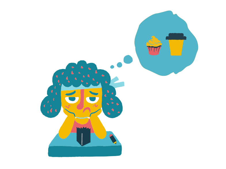 style Girl tired of studying Vector images in PNG and SVG | Icons8 Illustrations