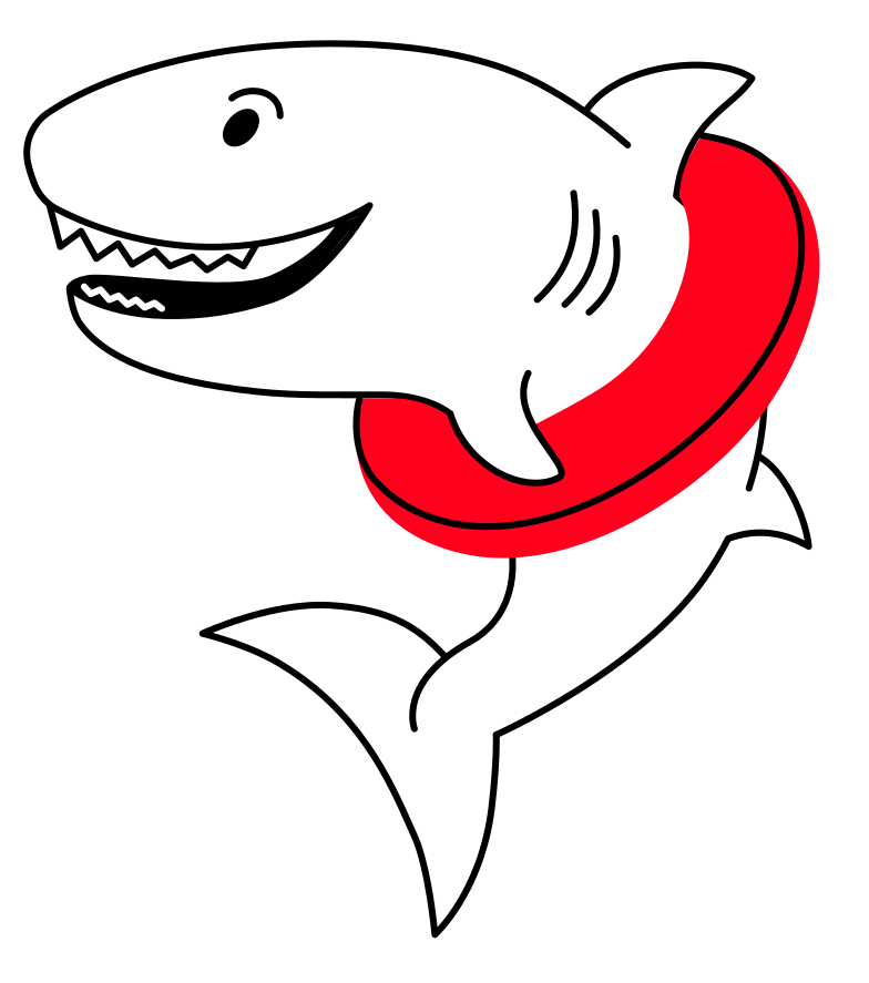 shark with a circle Clipart illustration in PNG, SVG
