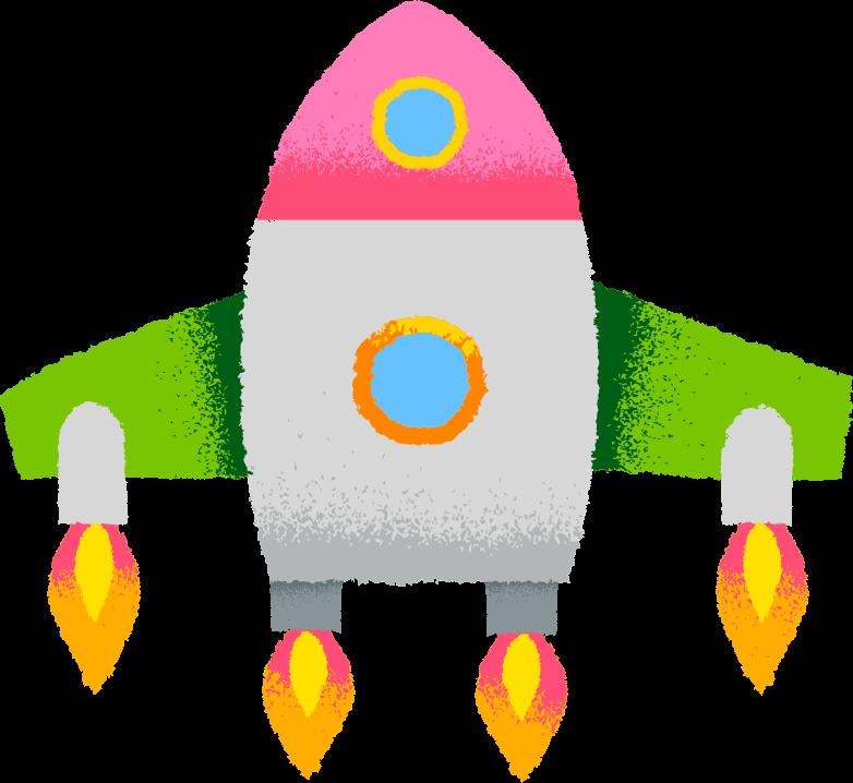 rocket Clipart illustration in PNG, SVG