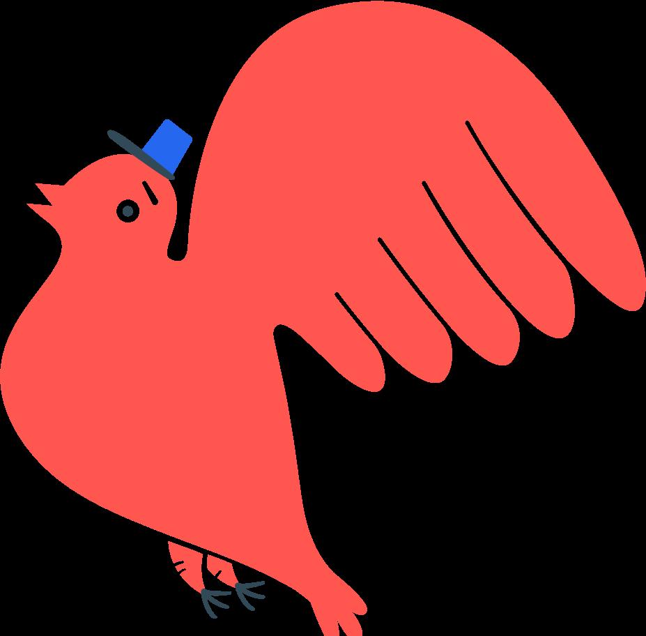 bird postman Clipart illustration in PNG, SVG