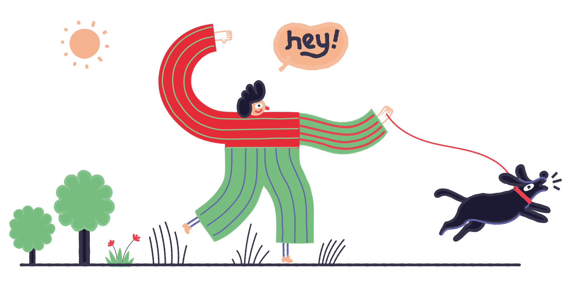 Walk Clipart illustration in PNG, SVG