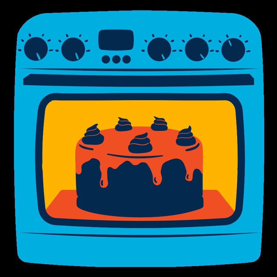 Cake baking Clipart illustration in PNG, SVG