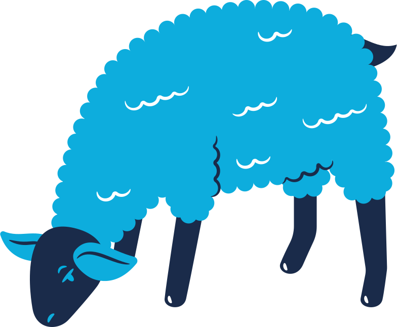 sheep eating Clipart illustration in PNG, SVG