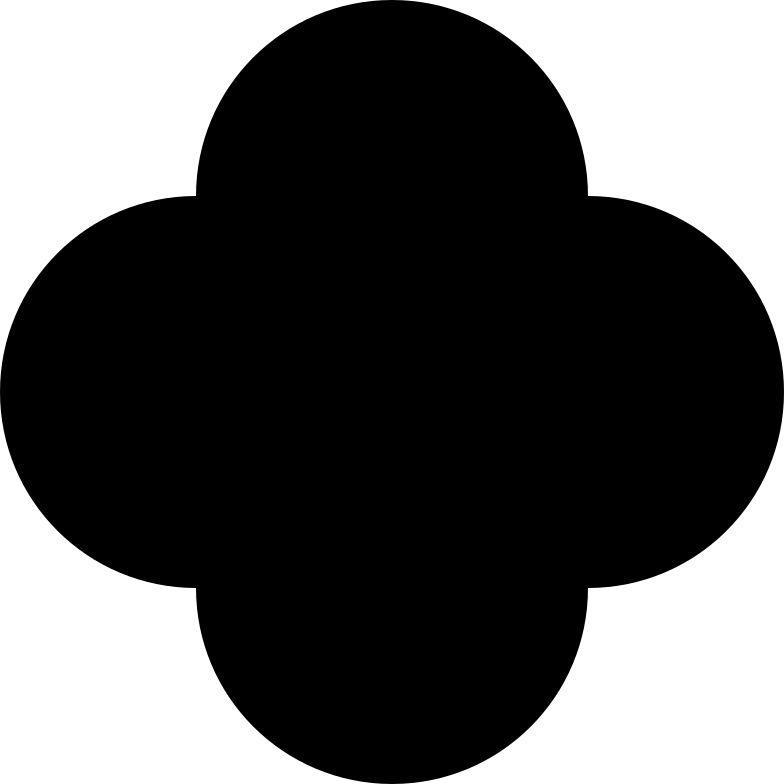 quatrefoil black Clipart illustration in PNG, SVG