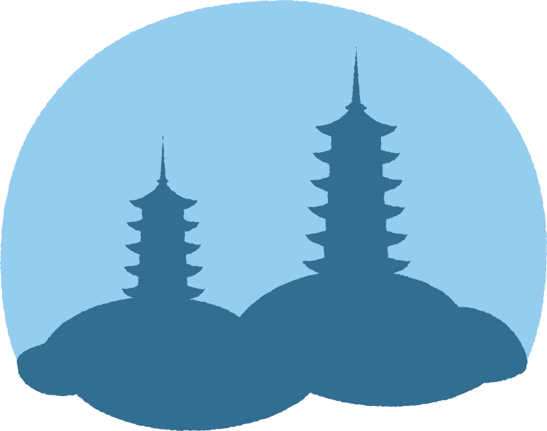 pagoda background Clipart illustration in PNG, SVG