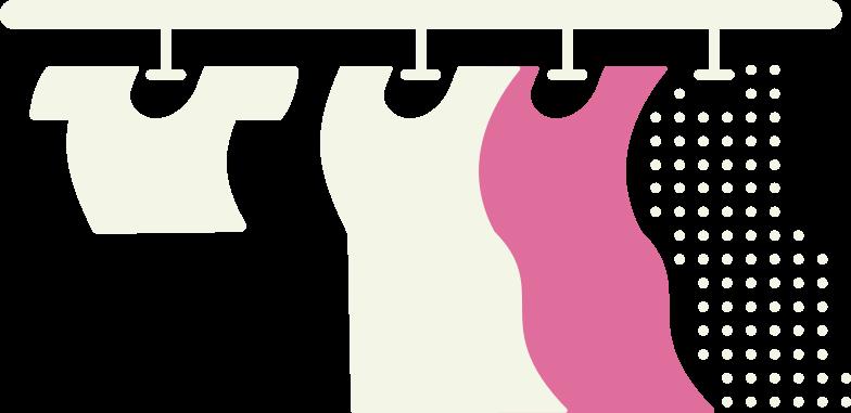 clothes on hanger Clipart illustration in PNG, SVG